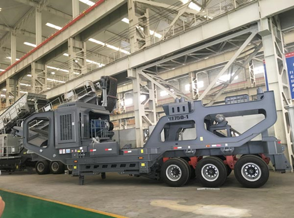 Tire Mobile Crusher Plant