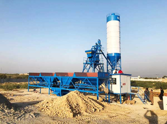 AJ-25 Fully Automatic Concrete Batching Plant